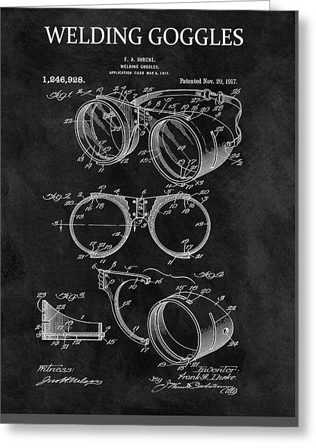 1917 Welder Goggles Greeting Card by Dan Sproul