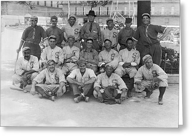 1919 San Francisco Seals Team Greeting Card by Underwood Archives