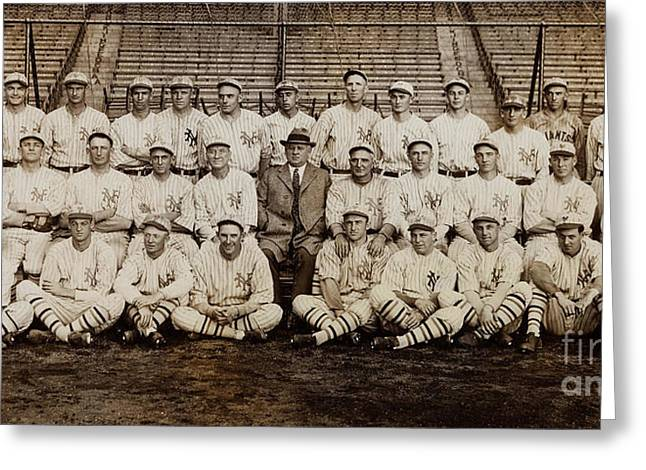 1920 New York Giants Team Greeting Card by Jon Neidert