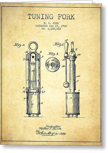 1920 Tuning Fork Patent - Vintage Greeting Card