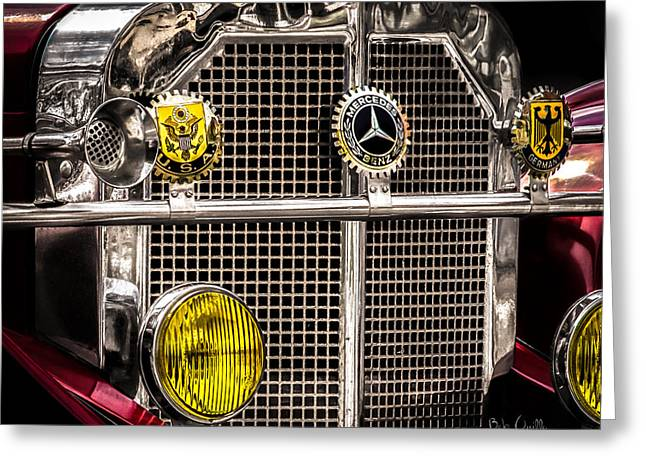 1920's Mercedes Benz Ssk Greeting Card by Bob Orsillo