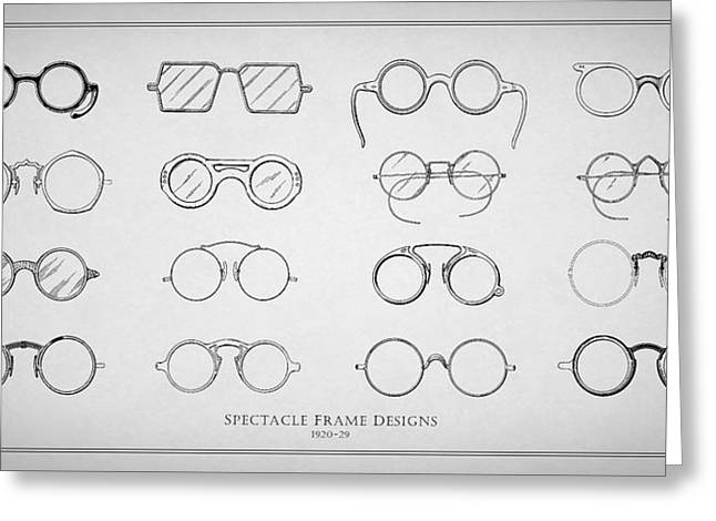 1920s Spectacle Designs Greeting Card by Mark Rogan