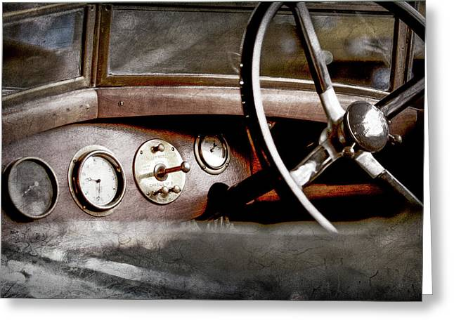 1921 Bentley Steering Wheel -0454ac Greeting Card