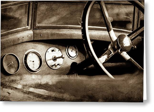 1921 Bentley Steering Wheel -0454s Greeting Card