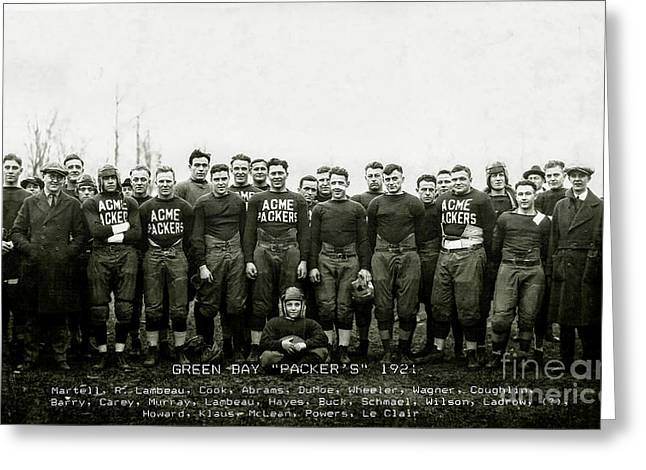 1921 Green Bay Packers Team Greeting Card