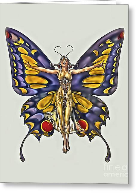 1922 Flapper Butterfly Greeting Card