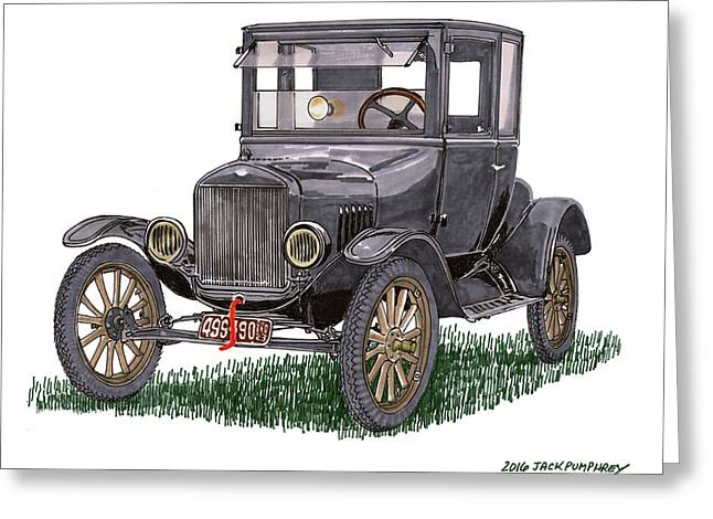 1923 Ford Model T Coupe Greeting Card