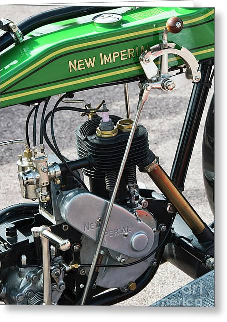 1923 New Imperial Motorcycle Engine Greeting Card