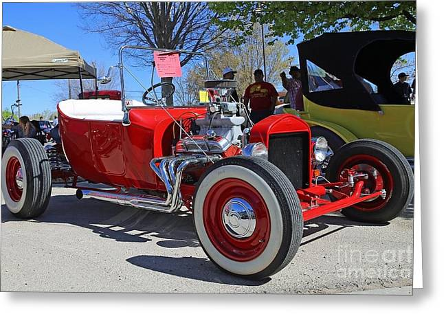 1923 Red Ford Model T Greeting Card