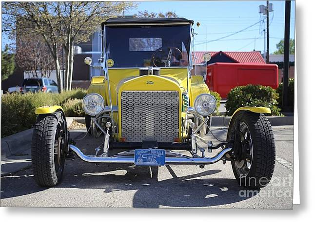 1923 Yellow Ford Model T Front Greeting Card