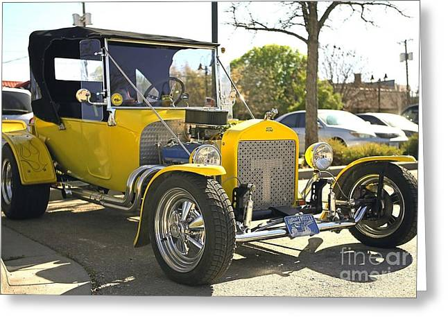 1923 Yellow Ford Model T Side Greeting Card