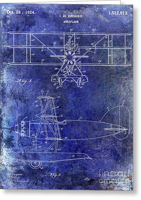 1924 Airplane Patent Greeting Card