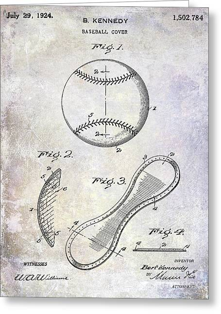 1924 Baseball Patent Greeting Card by Jon Neidert