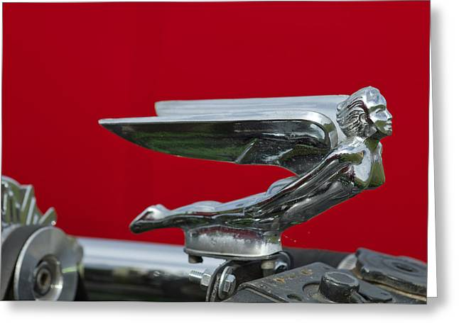 1924 Ford Hood Ornament Greeting Card by Jill Reger