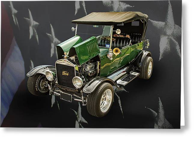 1924 Ford Model T Touring Hot Rod 5509.001 Greeting Card