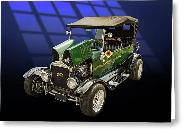 1924 Ford Model T Touring Hot Rod 5509.002 Greeting Card