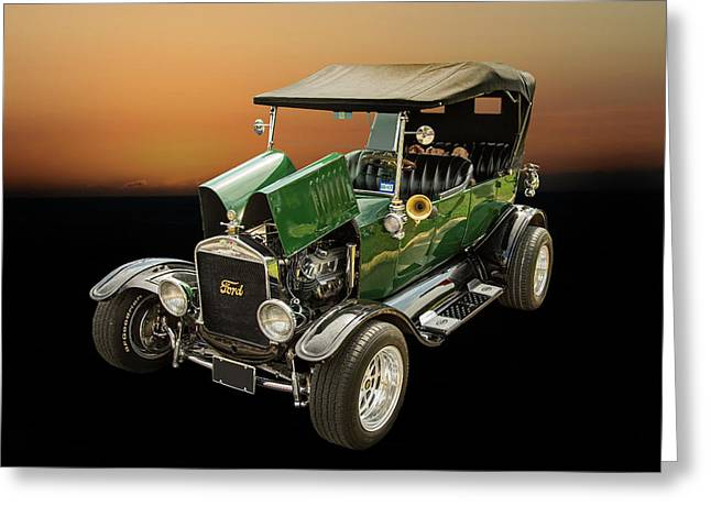 1924 Ford Model T Touring Hot Rod 5509.003 Greeting Card