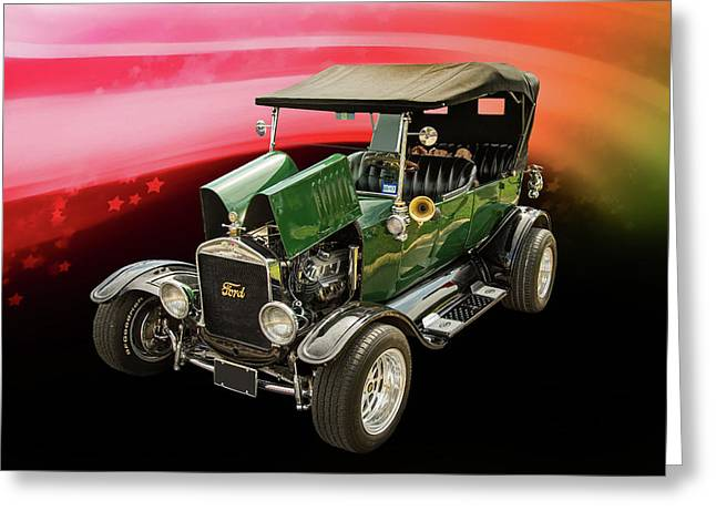 1924 Ford Model T Touring Hot Rod 5509.004 Greeting Card