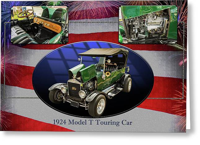 1924 Ford Model T Touring Hot Rod 5509.005 Greeting Card by M K  Miller