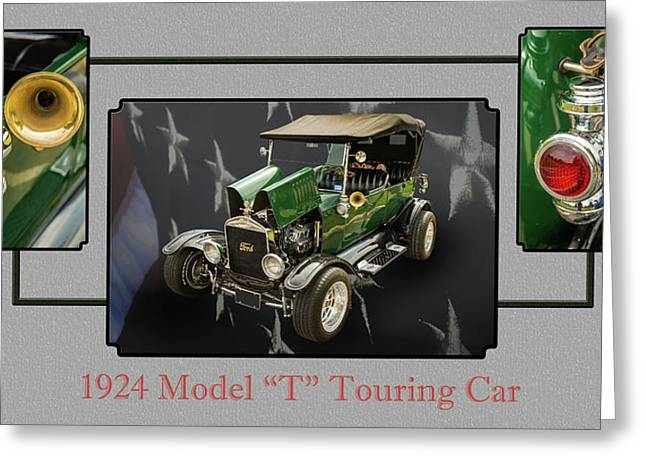 1924 Ford Model T Touring Hot Rod 5509.006 Greeting Card by M K  Miller