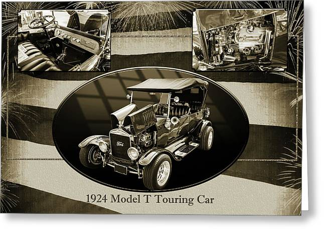 1924 Ford Model T Touring Hot Rod 5509.200 Greeting Card by M K  Miller