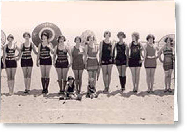 1925 California Bathing Suit Contest  Greeting Card by Jon Neidert