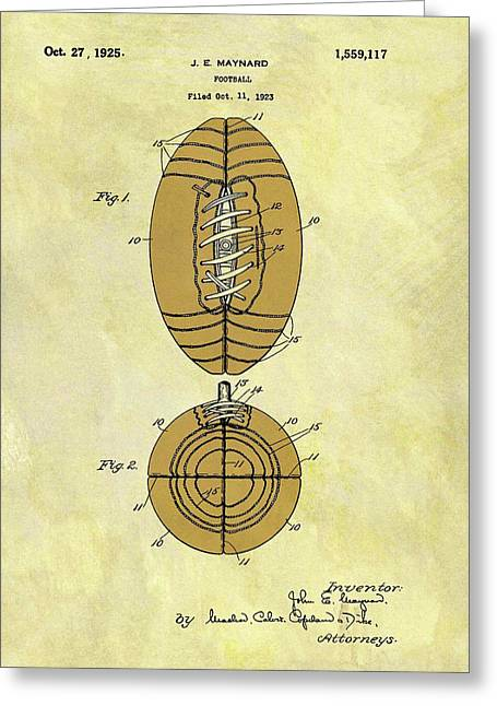 1925 Football Patent Greeting Card