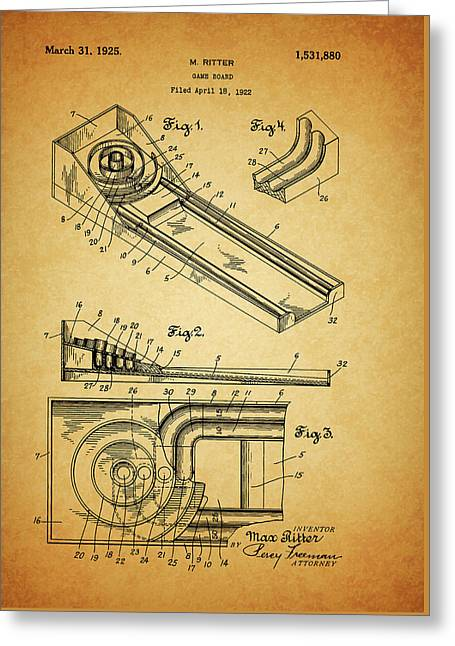 1925 Skee Ball Patent Greeting Card