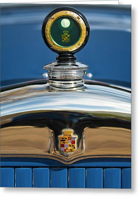 1926 Cadillac Series 314 Custom Hood Ornament Greeting Card by Jill Reger