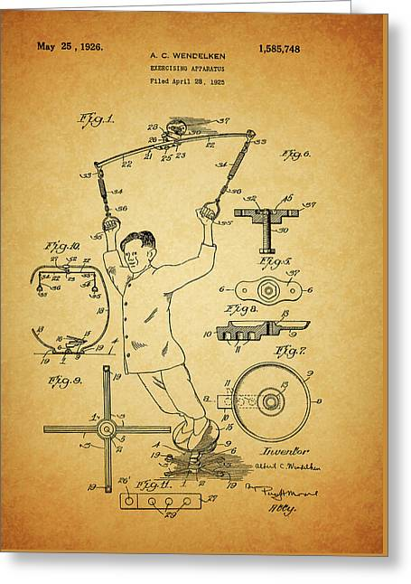 1926 Exercise Machine Patent Greeting Card