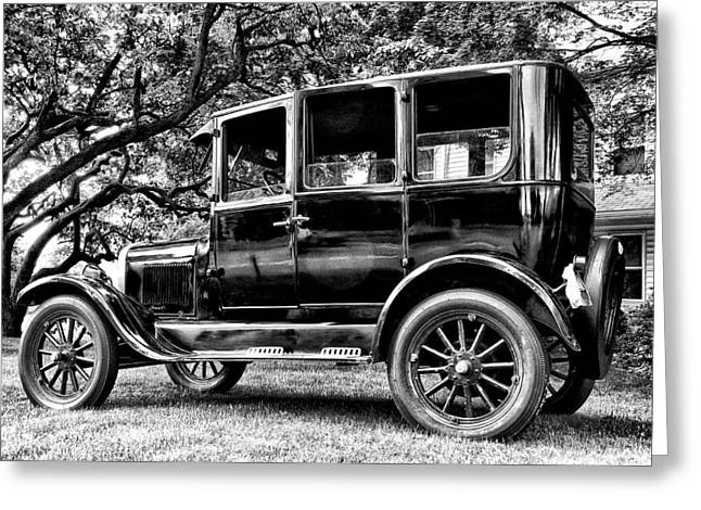 Ford Model T Car Greeting Cards - 1926 Ford Model T Greeting Card by Bill Cannon