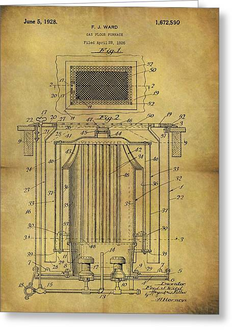 1926 Furnace Patent Greeting Card by Dan Sproul