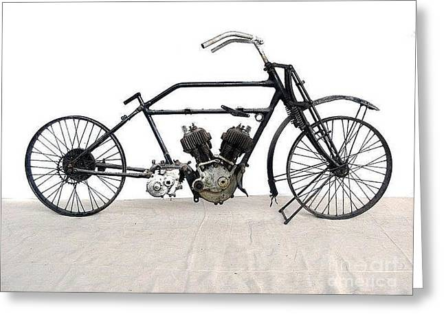 1926 James Model V Twin Greeting Card by Pg Reproductions