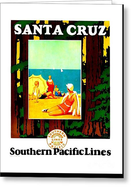 1926 Santa Cruz Southern Pacific Lines Greeting Card by Peter Gumaer Ogden Collection