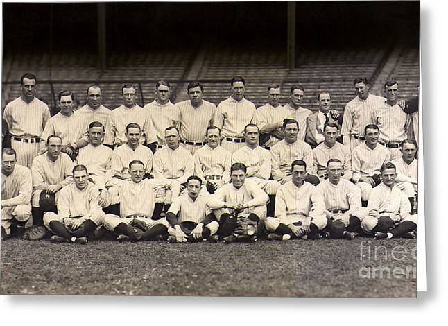 1926 Yankees Team Photo Greeting Card