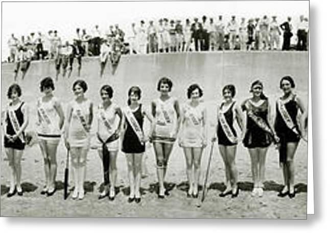 1927 California Swimsuit Contest  Greeting Card