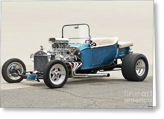 1927 Ford 'bucket T' Roadster V Greeting Card