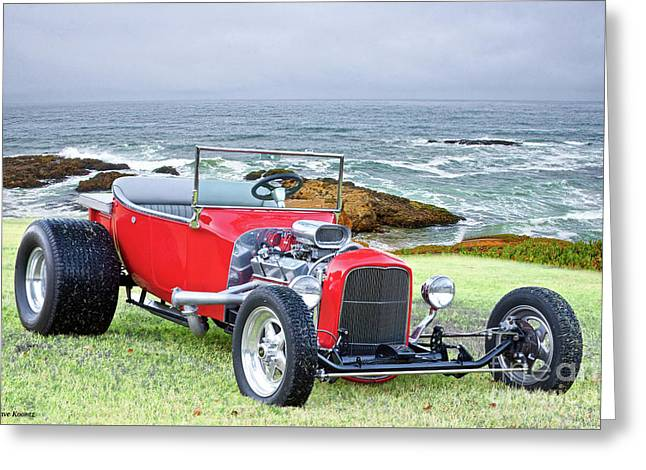1927 Ford T Bucket Roadster 'on The Greens' Greeting Card