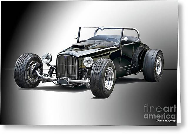 1927 Ford 'track T' Roadster II Greeting Card