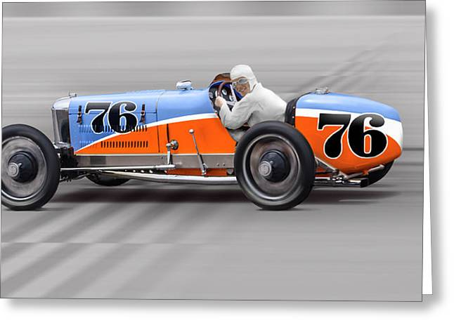 1927 Miller 91 No. 76 Greeting Card by Ed Dooley