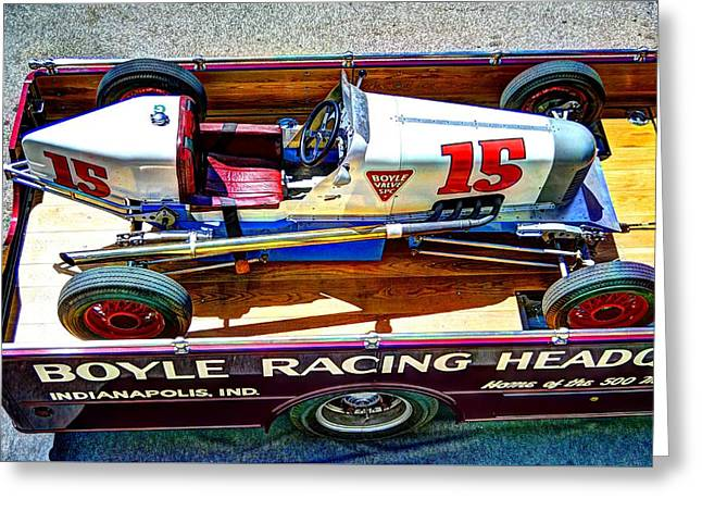 1927 Miller 91 Rear Drive Racing Car Greeting Card