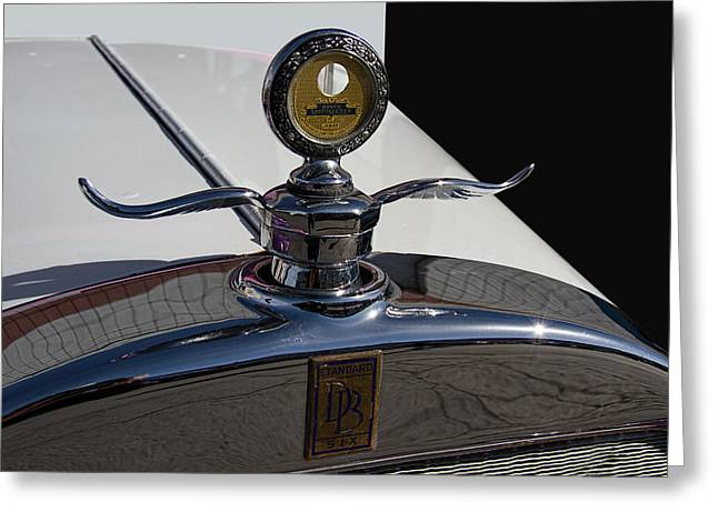 1928 Dodge Hood Ornament Greeting Card by Nick Gray