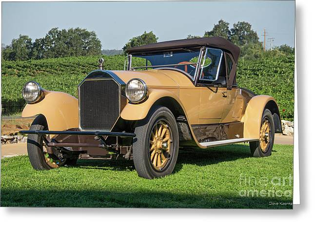 1928 Pierce-arrow 33 Runabout Greeting Card by Dave Koontz