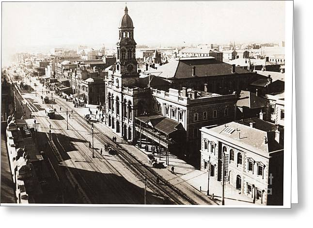1928 Vintage Adelaide City Landscape Greeting Card