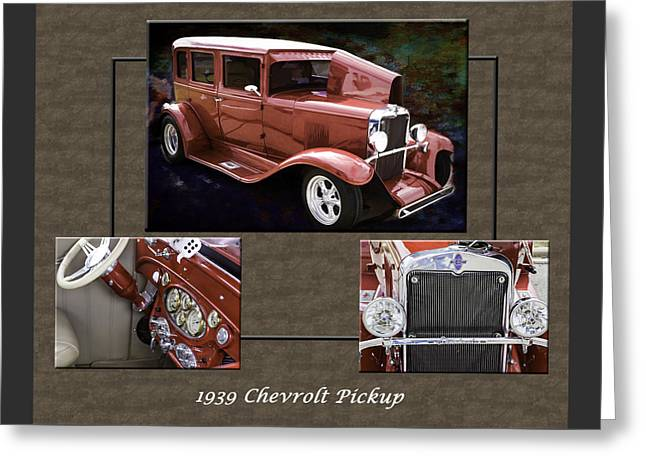 1929 Chevrolet Classic Car Automobile Color Red 3557.02 Greeting Card by M K  Miller