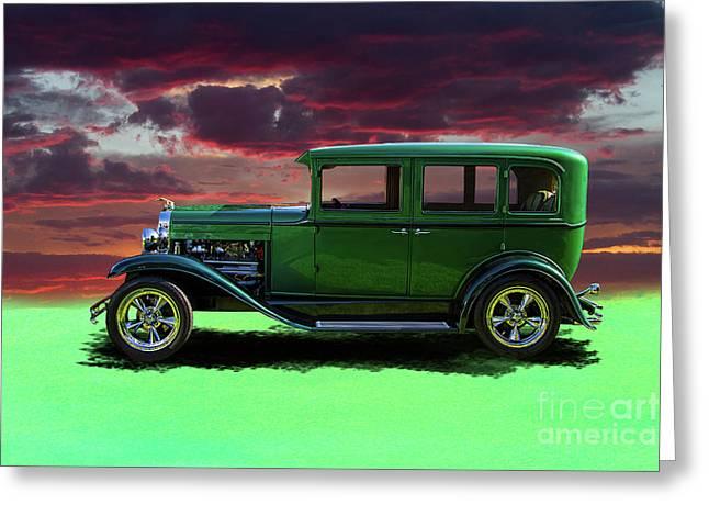 1929 Chevrolet Customized 4 Door Sedan Greeting Card