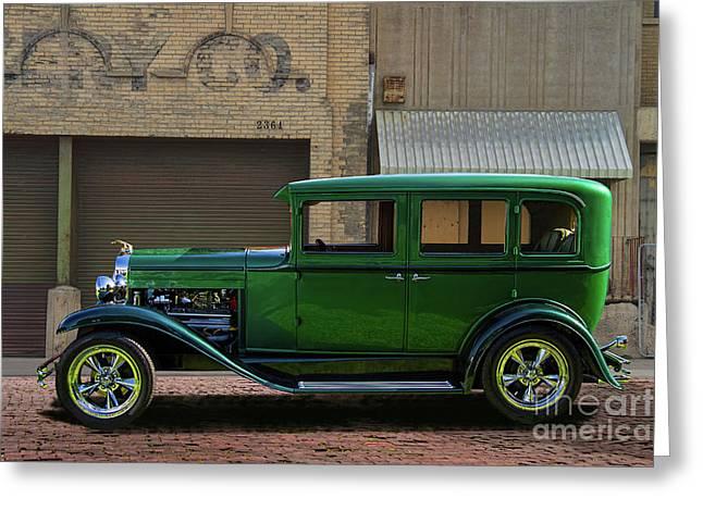 1929 Customized Chevrolet Sedan Greeting Card
