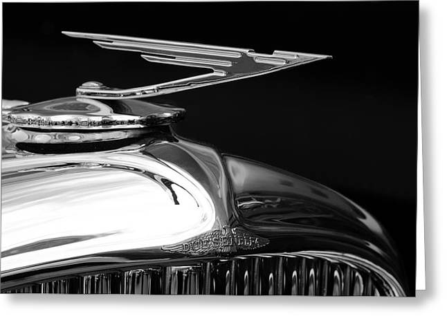 1929 Duesenberg Model J Hood Ornament 2 Greeting Card by Jill Reger