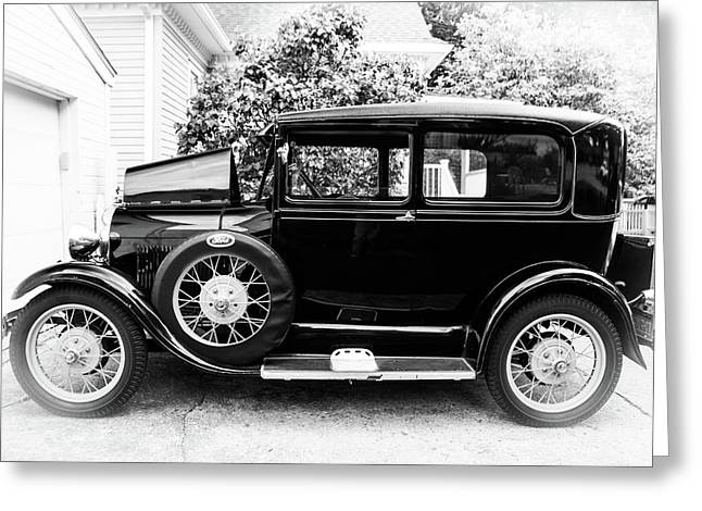 1929 Ford Model A By Earl's Photography Greeting Card by Earl Eells a