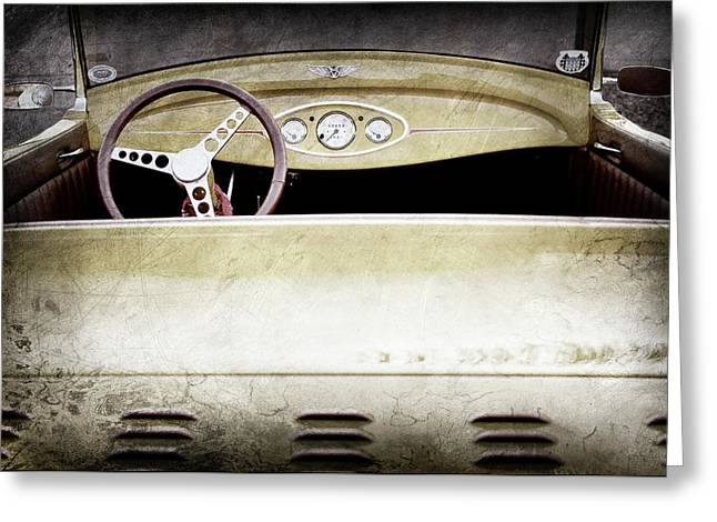 1929 Ford Model A Roadster -0040ac Greeting Card by Jill Reger